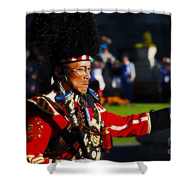 Band Leader Shower Curtain featuring the photograph Band Leader by David Lee Thompson