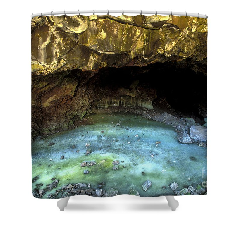 Southwest Shower Curtain featuring the photograph Bandera Ice Cave by Sandra Bronstein