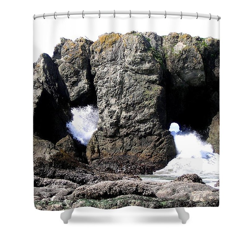 Bandon Shower Curtain featuring the photograph Bandon 17 by Will Borden