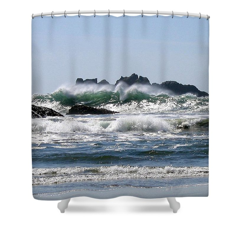 Bandon Shower Curtain featuring the photograph Bandon 20 by Will Borden