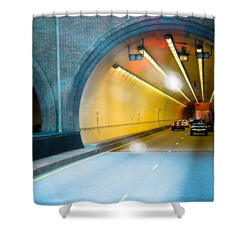 Tunnel Shower Curtain featuring the photograph Bankhead Tunnel by Tanya Garner