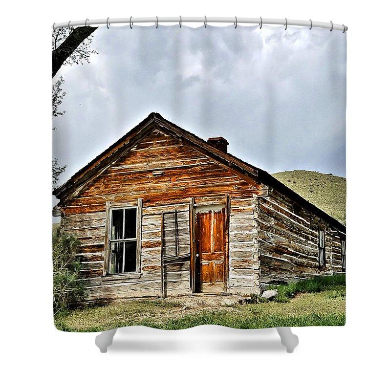 Bannack Montana Shower Curtain featuring the digital art Bannack Mt. 3 by Susan Kinney