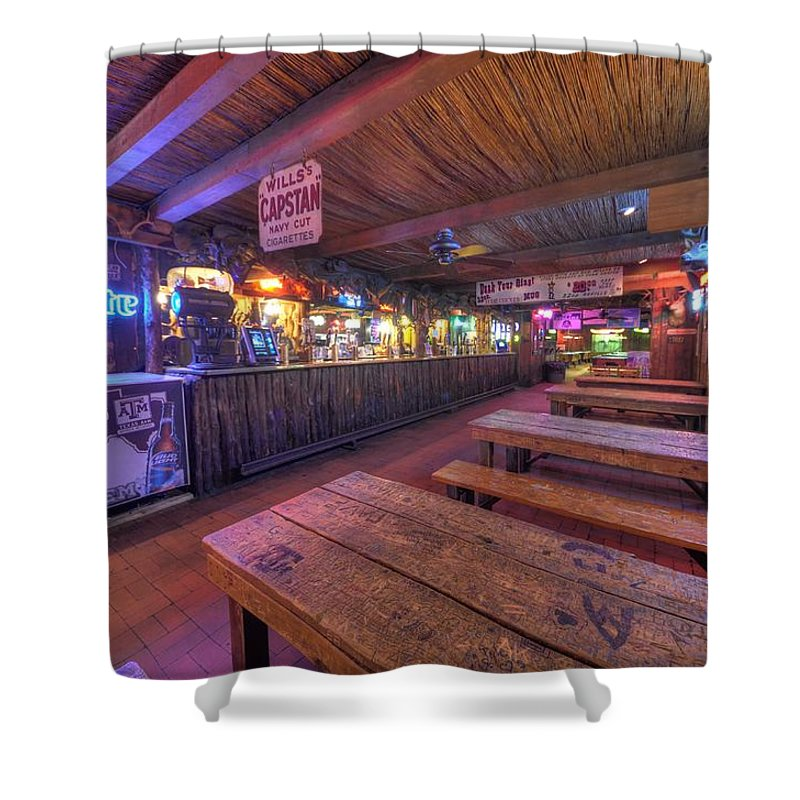 Beer Shower Curtain featuring the photograph Bar At The Dixie Chicken by David Morefield