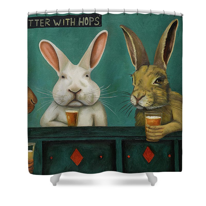 Bunny Hop Paintings Shower Curtains