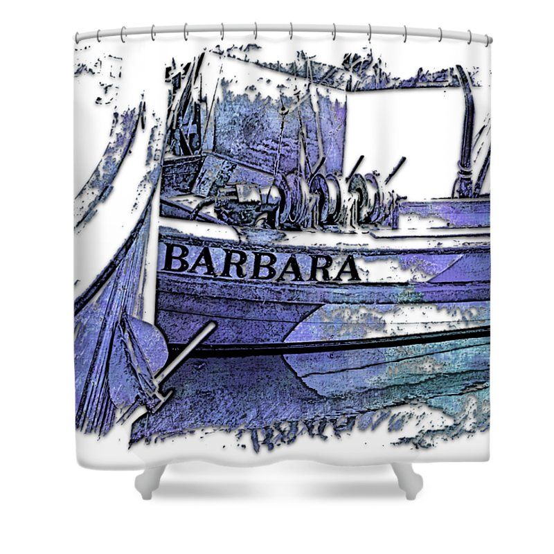 Berry Shower Curtain featuring the photograph Barbara Berry Blues 3 Dimensional by Di Designs