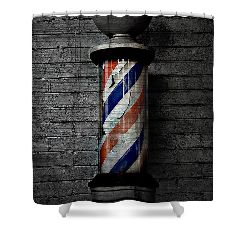 Popular Keywordsthe Keywords Shower Curtain featuring the photograph Barber Pole Blues by The Artist Project