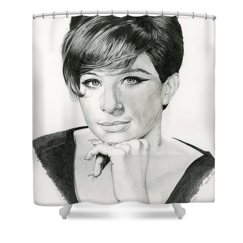 Barbra Shower Curtain featuring the drawing Barbra by Rob De Vries