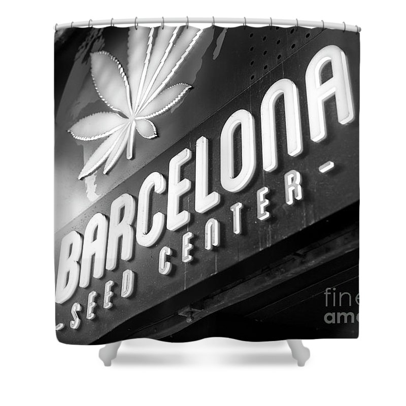 Barcelona Seed Center Shower Curtain featuring the photograph Barcelona Seed Center by John Rizzuto