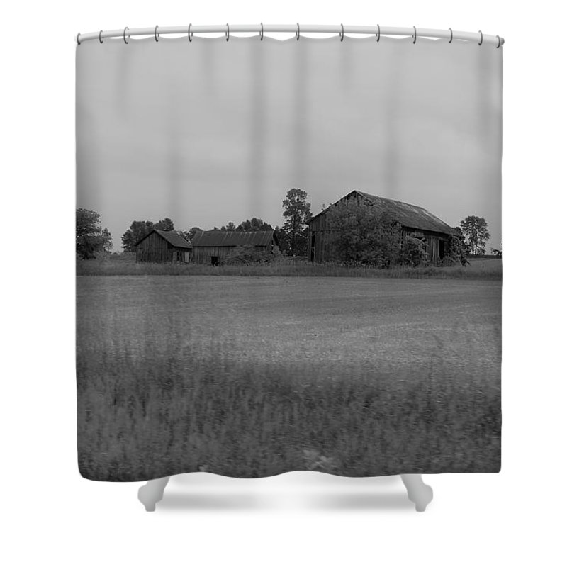 Shower Curtain featuring the photograph Barn 13 by John Bichler