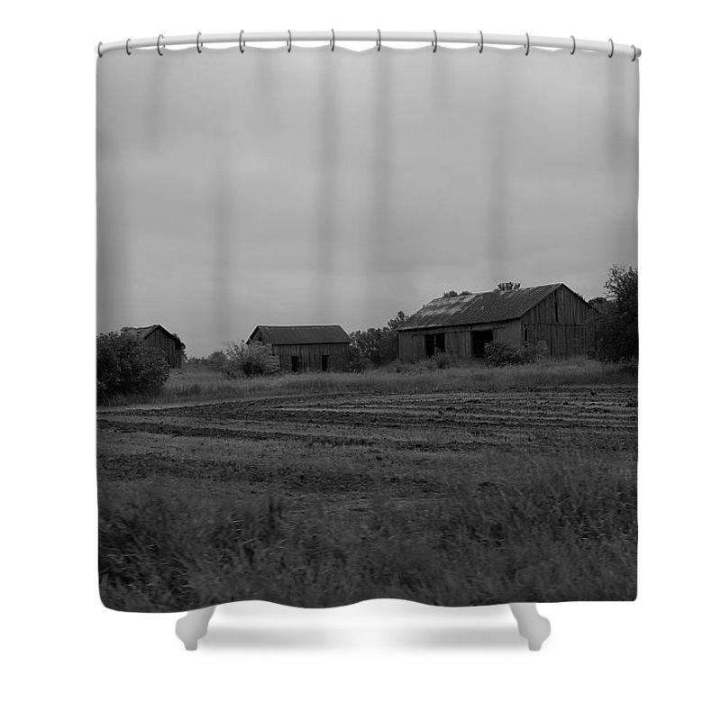 Shower Curtain featuring the photograph Barn 14 by John Bichler