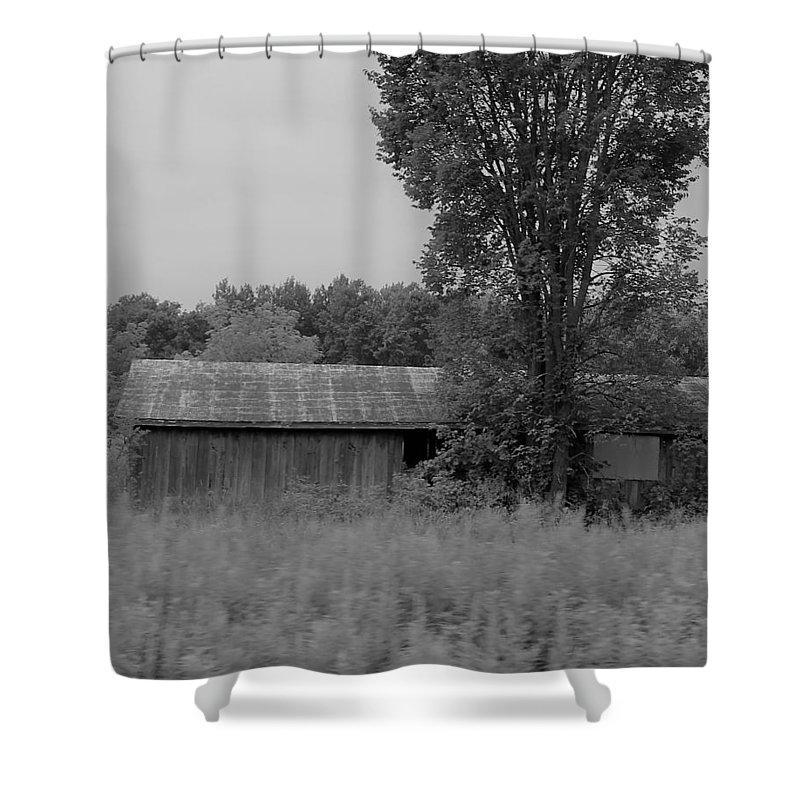 Shower Curtain featuring the photograph Barn 17 by John Bichler