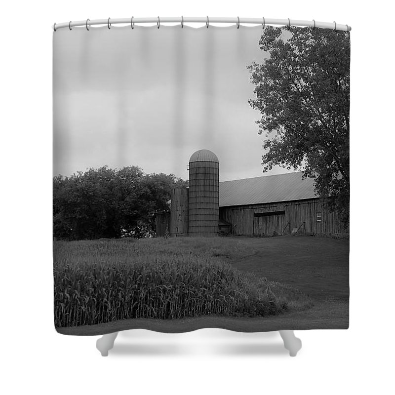 Shower Curtain featuring the photograph Barn 6 by John Bichler