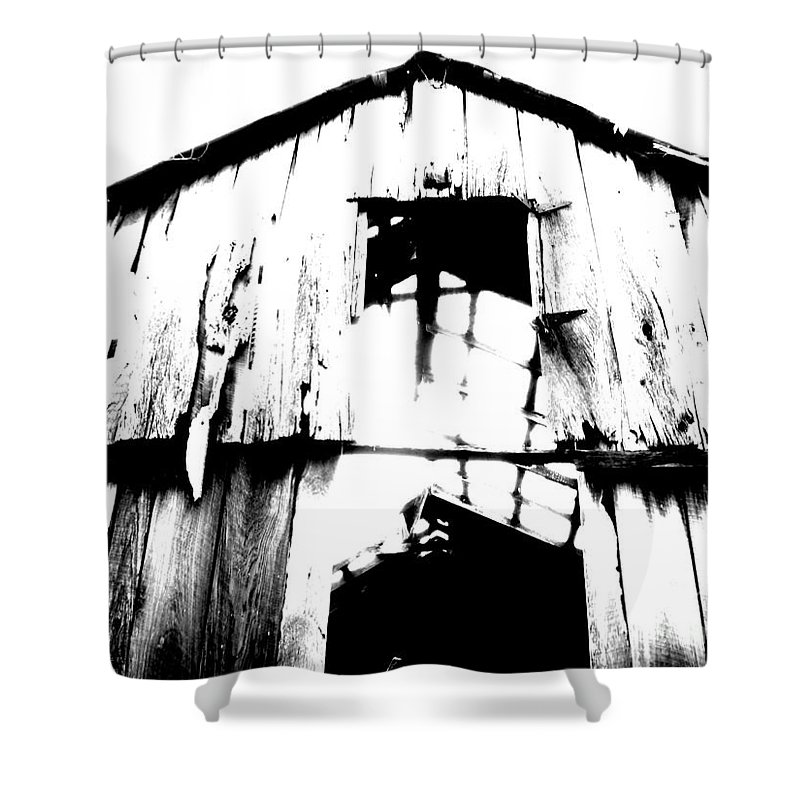 Barn Shower Curtain featuring the photograph Barn by Amanda Barcon