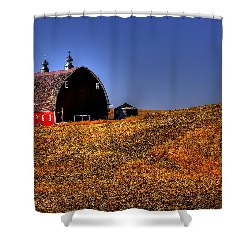 Harvest Shower Curtain featuring the photograph Barn II by David Patterson
