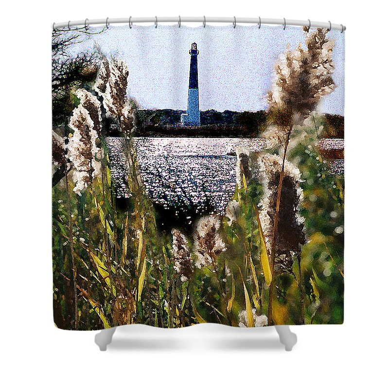 Barnegat Shower Curtain featuring the digital art Barnegat Bay by Steve Karol