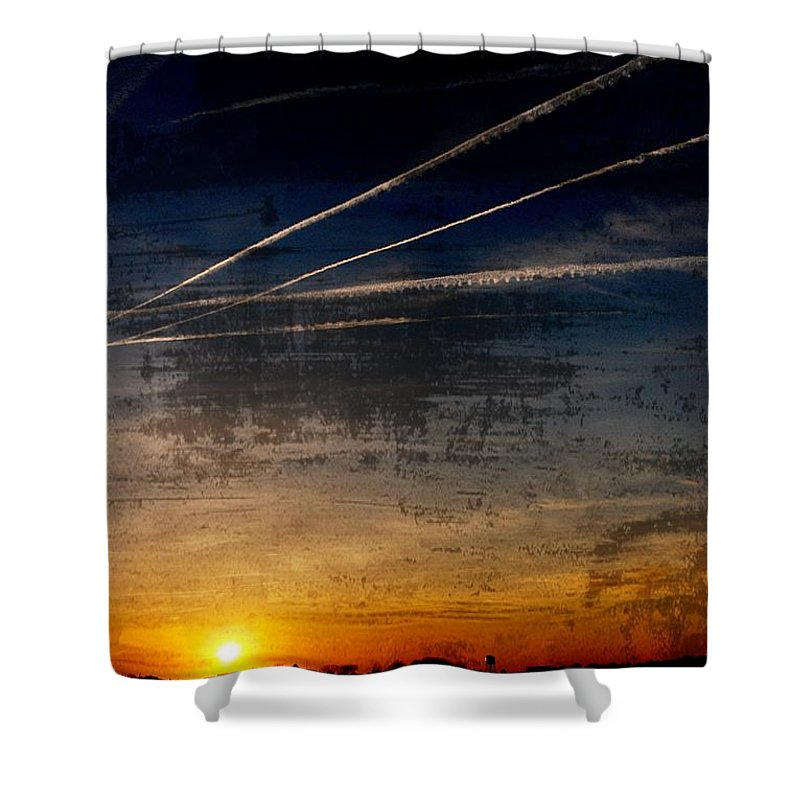 Jersey Shore Shower Curtain featuring the photograph Barnegat Bay Sunset - Jersey Shore by Angie Tirado