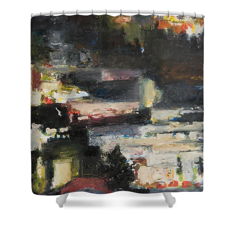 Barrio Shower Curtain featuring the painting Barrio by Craig Newland
