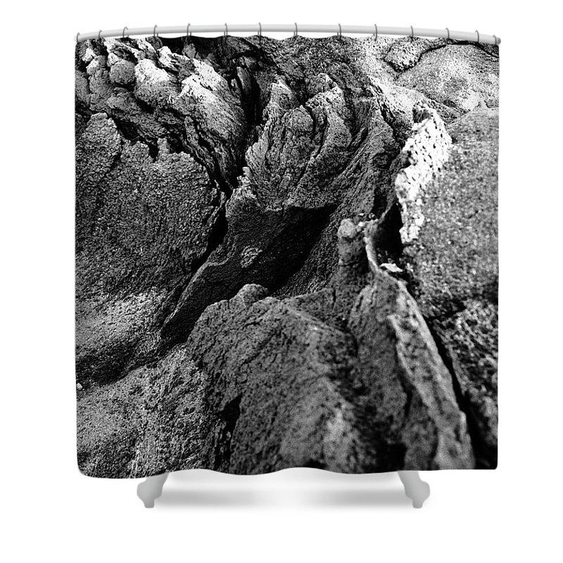 Basalt Shower Curtain featuring the photograph Basalt Textures by Gaspar Avila