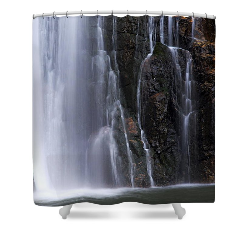 Porcupine Falls Shower Curtain featuring the photograph Base Of Porcupine Falls by Larry Ricker