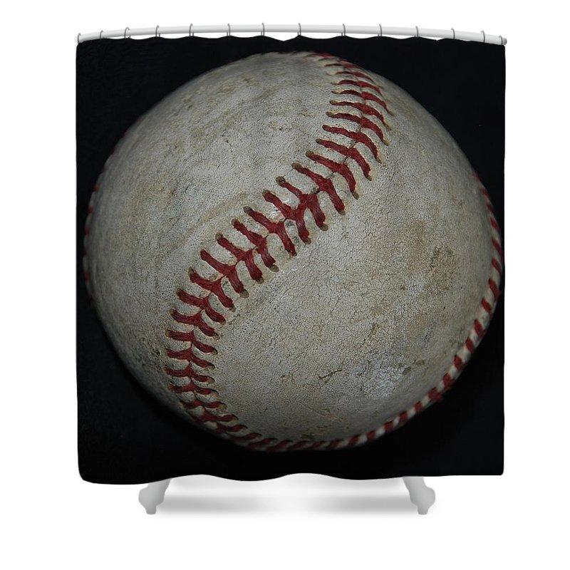 Pop Art Shower Curtain featuring the photograph Baseball by Rob Hans