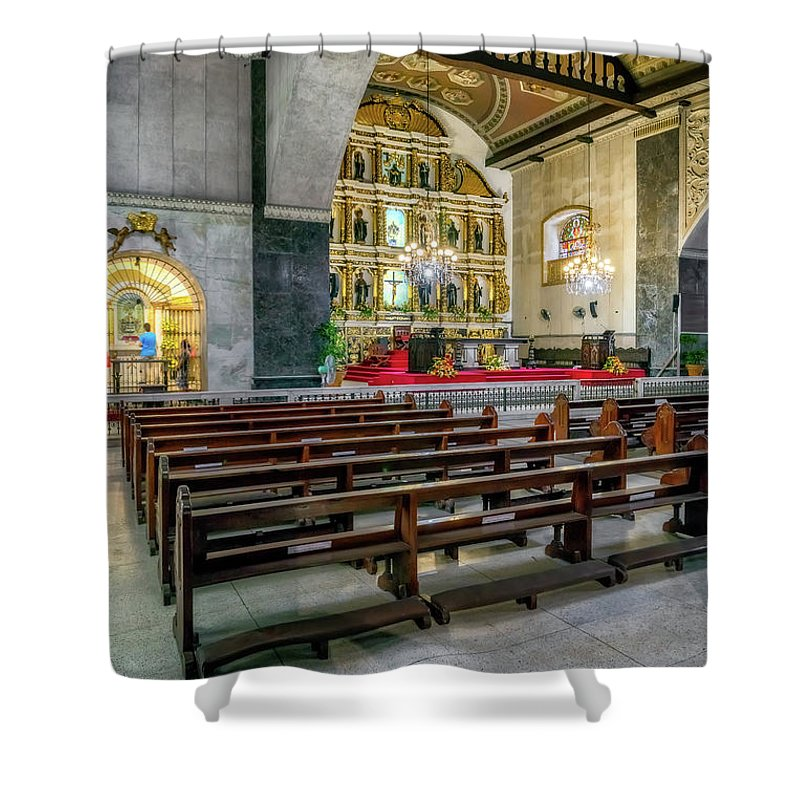 Catholic Shower Curtain featuring the photograph Basilica Minore Del Santo Nino by Adrian Evans