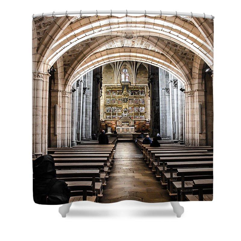Castilla Leon Shower Curtain featuring the photograph Basilica Of San Isidoro De Leon - Interior by RicardMN Photography