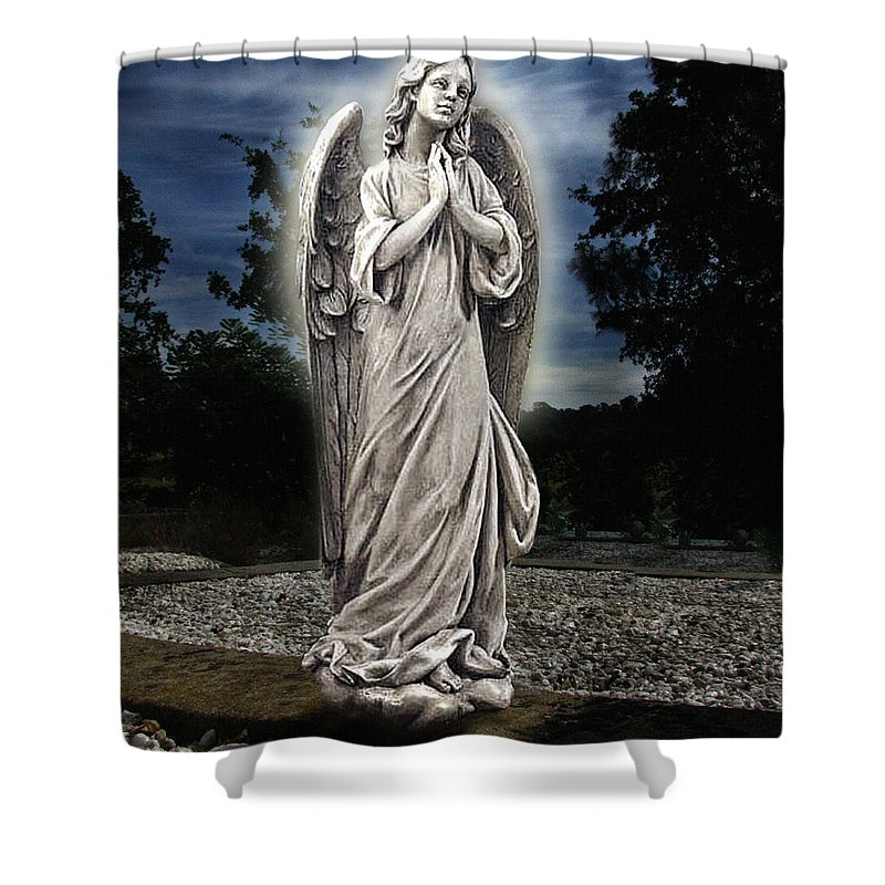 Bask In His Glory Shower Curtain featuring the photograph Bask In His Glory by Peter Piatt