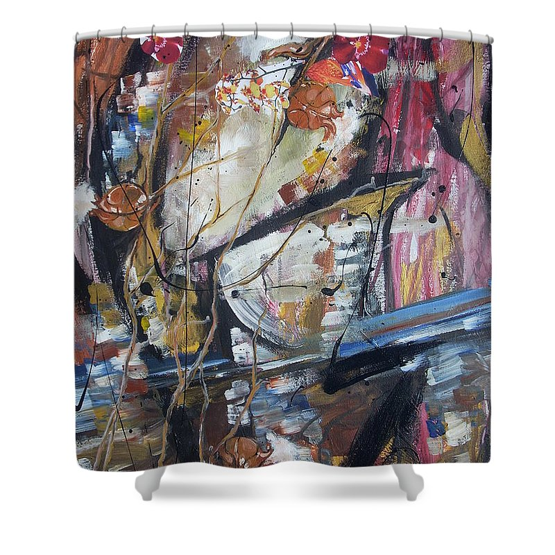 Basketball Shower Curtain featuring the painting Basket-boll Dreams by Hasaan Kirkland