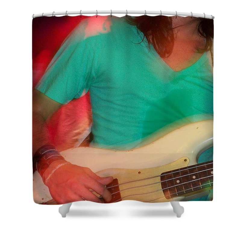 Bright Light Social Hour Shower Curtain featuring the photograph Bass Man by Laurette Escobar