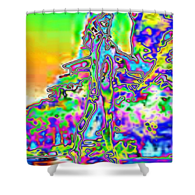 Bather Shower Curtain featuring the photograph Bathing Beauty by Tim Allen