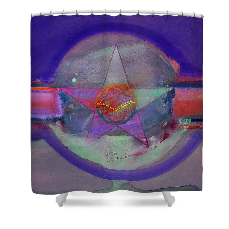 Usaaf Insignia Shower Curtain featuring the painting Battlefield by Charles Stuart