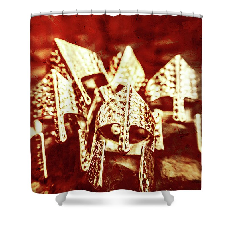 War Shower Curtain featuring the photograph Battlefield Of Lost Empires by Jorgo Photography - Wall Art Gallery