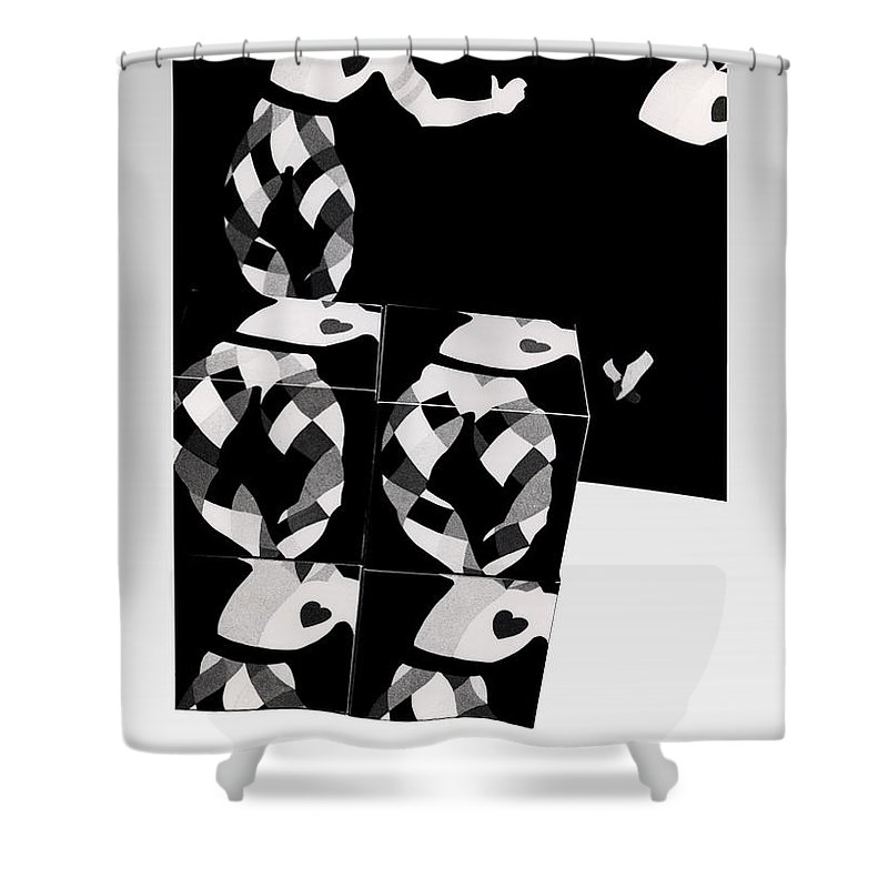 Dance Shower Curtain featuring the photograph Bauhaus Ballet 2 The Cubist Harlequin by Charles Stuart