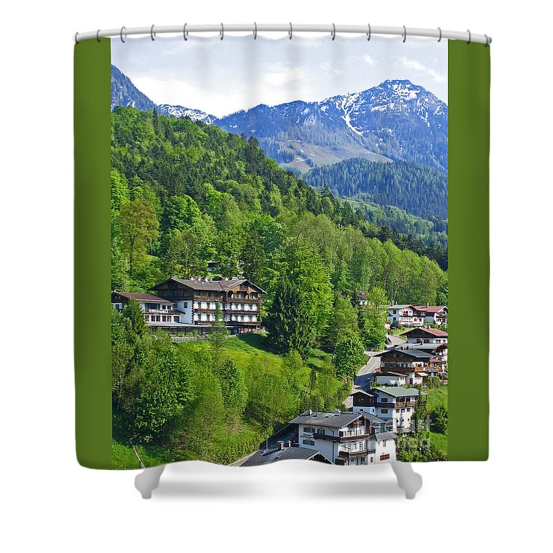 Germany Shower Curtain featuring the photograph Bavarian Mountainside by Ann Horn