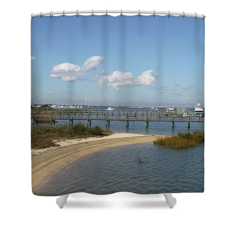 Bayfront Shower Curtain featuring the photograph Bayfront St. Augustine by Christiane Schulze Art And Photography