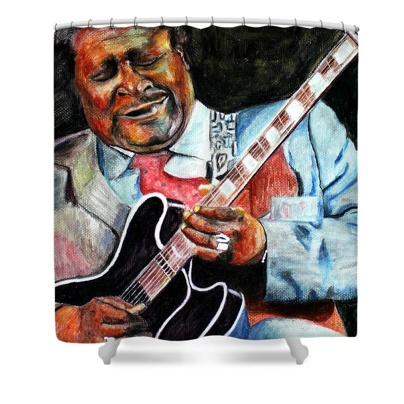 Bbking Shower Curtain featuring the painting Bbking by Frances Marino