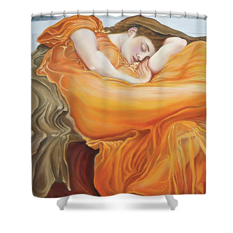 Christian Art Shower Curtain featuring the painting Be Still by Elise Aleman