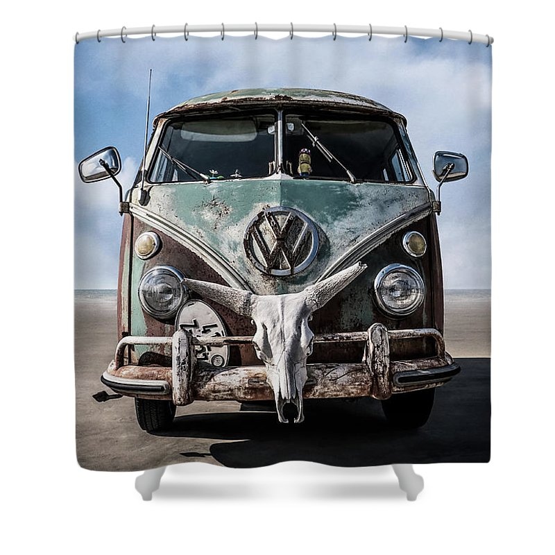 Wagon Digital Art Shower Curtains