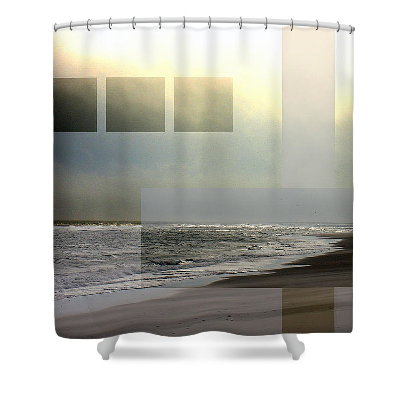 Beach Shower Curtain featuring the photograph Beach Collage 2 by Steve Karol