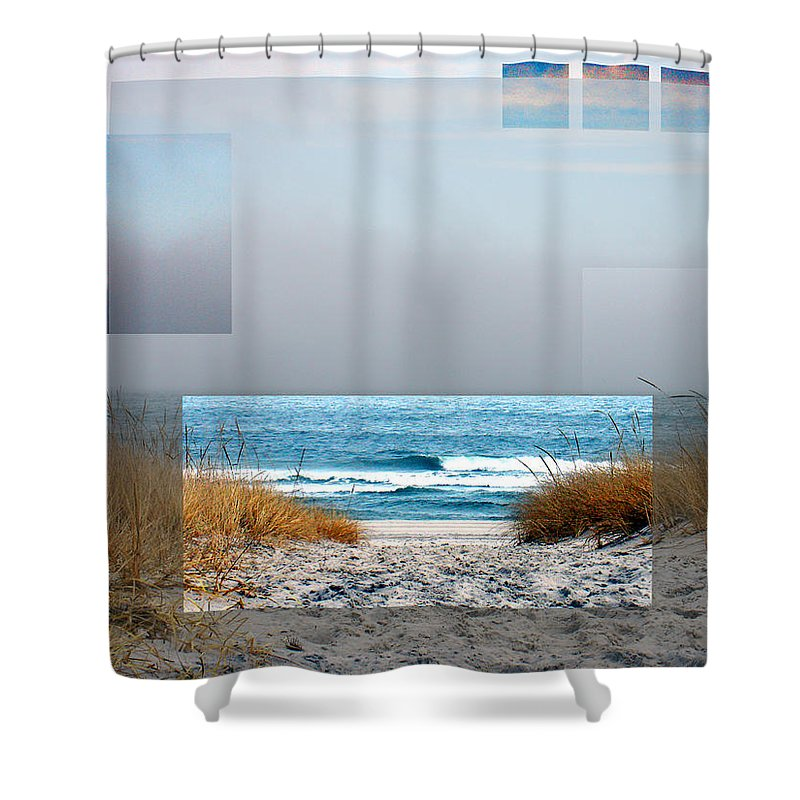 Beach Shower Curtain featuring the photograph Beach Collage by Steve Karol