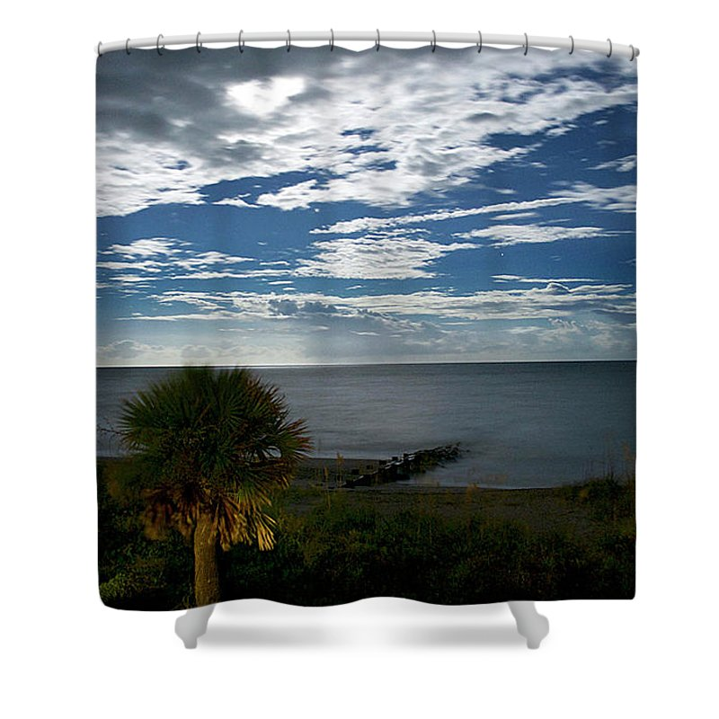 Maritime Shower Curtain featuring the photograph Beach Front Property by Skip Willits