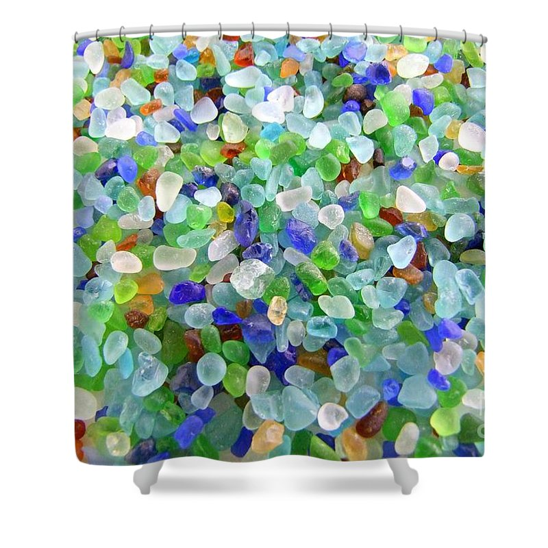 Beach Glass Shower Curtain For Sale By Mary Deal