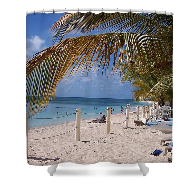 Beach Shower Curtain featuring the photograph Beach Grand Turk by Debbi Granruth