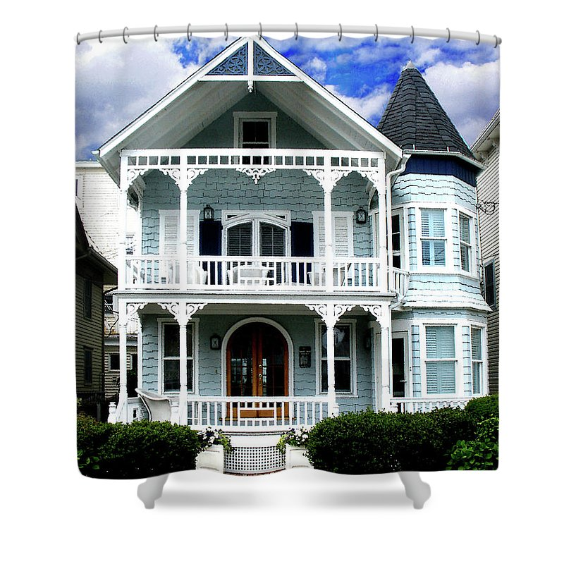 Landscape Shower Curtain featuring the photograph Beach House Panel 1 From Triptych by Steve Karol
