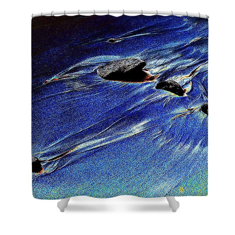 Beach Shower Curtain featuring the photograph Beach Sinuosity by Tim Allen