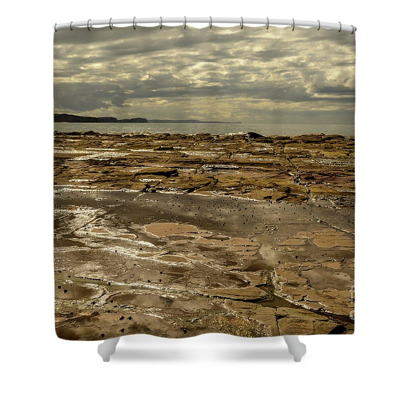 Landscape Shower Curtain featuring the photograph Beach Syd02 by Werner Padarin