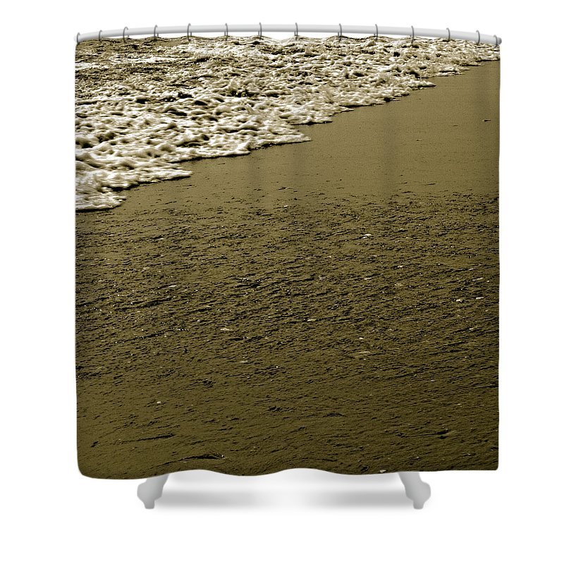 Water Shower Curtain featuring the photograph Beach Texture by Jean Macaluso
