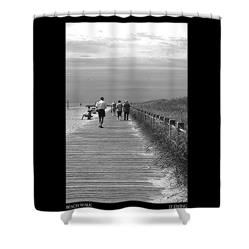 Boardwalk Shower Curtain featuring the photograph Beach Walk by J Todd
