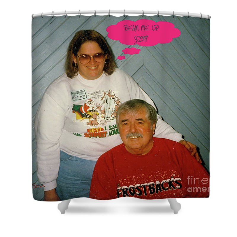 Star Trek Shower Curtain featuring the photograph Beam Me Up by Donna Brown