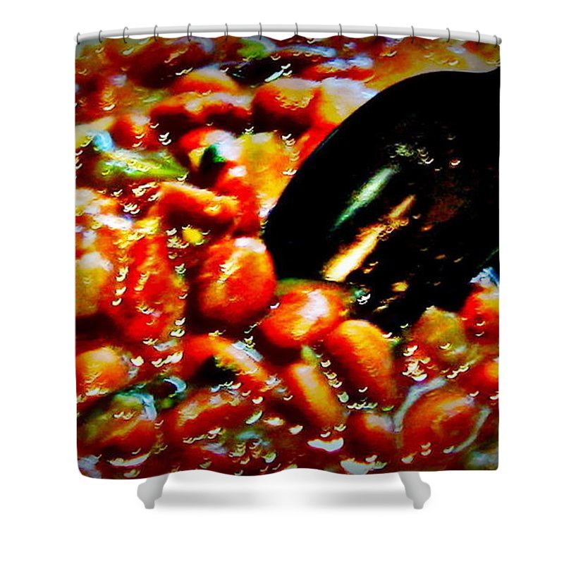 Beans Shower Curtain featuring the photograph Beans by Amy Hosp
